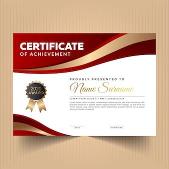 Certificado de reconocimiento con diseño moderno.