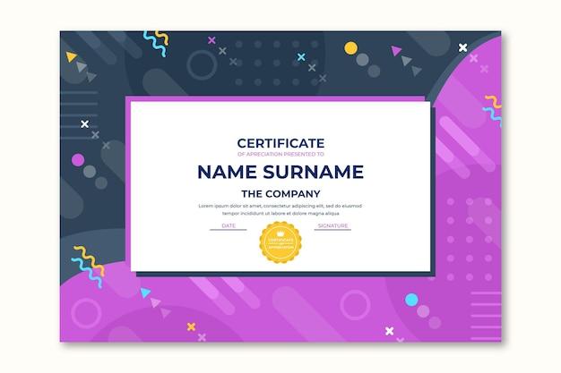 Certificado de reconocimiento moderno