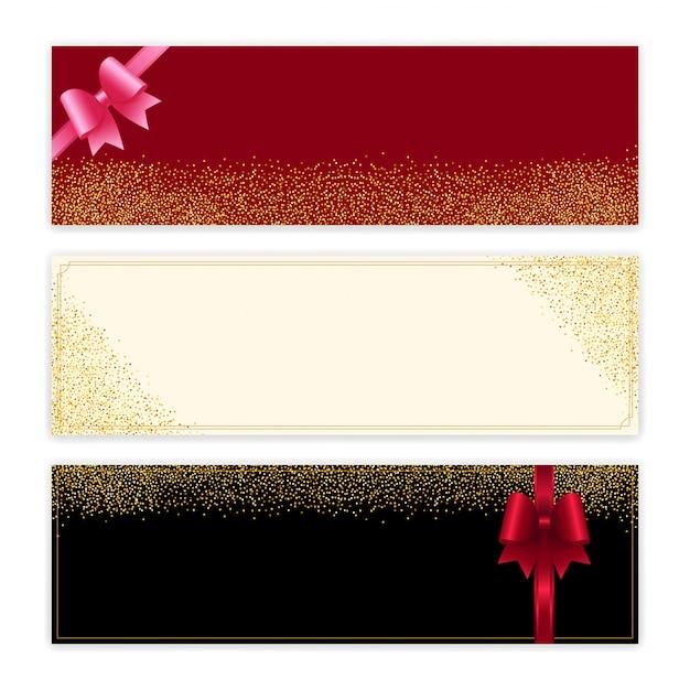 Certificado de regalo de purpurina dorada