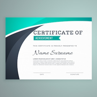 Certificado verde ondulado