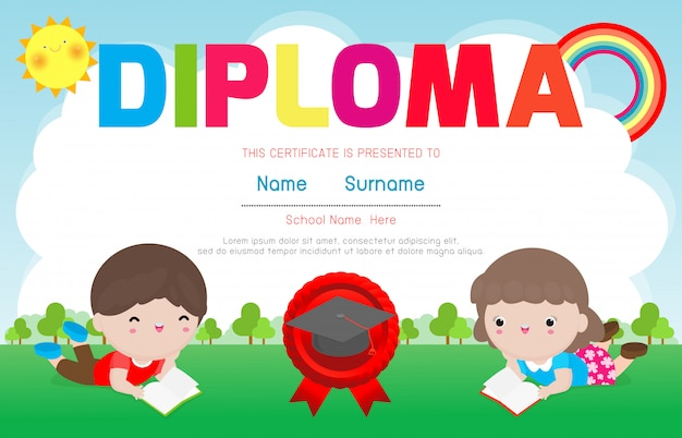 Certificados de preescolar y primaria
