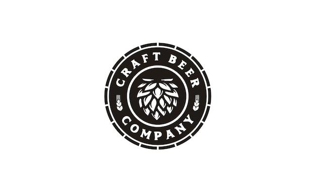 Cerveza artesanal / logotipo de la etiqueta de la cervecería