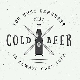 Cerveza y logotipo de pub.