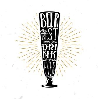 Cerveza, la mejor bebida de la historia - ilustración temática de cerveza