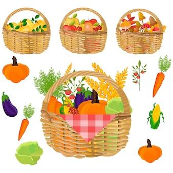 Cestas de verduras