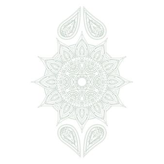 Chakra anahata para tatuaje de henna y para su diseño. ilustración