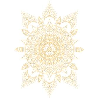 Chakra manipura para tatuaje de henna y para su diseño. ilustración