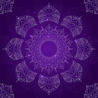 Chakra sahasrara sobre fondo violeta oscuro