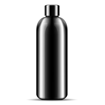 Champú ducha gel cosméticos botella maqueta.