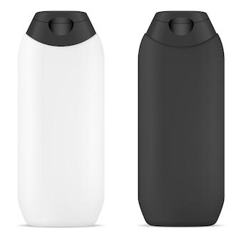 Champú vector botella. tubo cosmético en blanco