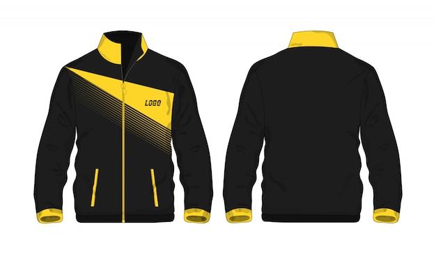 Chaqueta deportiva amarillo y negro t ilustración