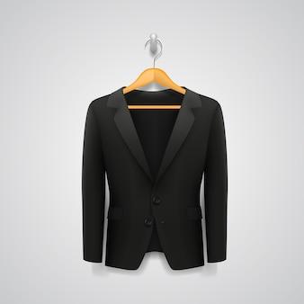 La chaqueta en la percha el arte. ilustración vectorial
