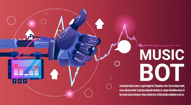 Chat bot music robot asistencia virtual de sitio web o aplicaciones móviles, inteligencia artificial c