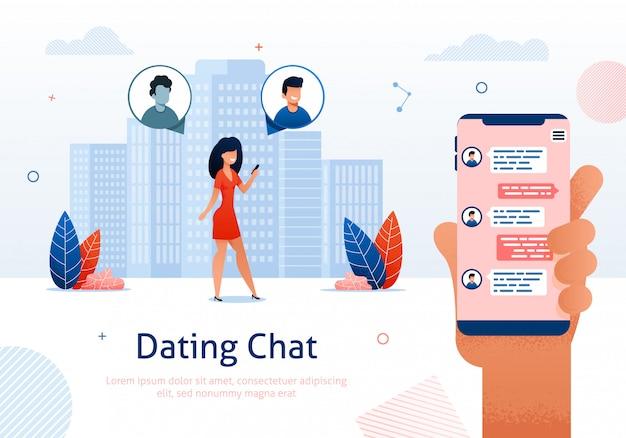Chat de citas en línea, coqueteo en línea, relaciones.