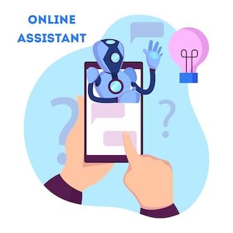Chatbot apoya a los clientes y les ayuda con problemas