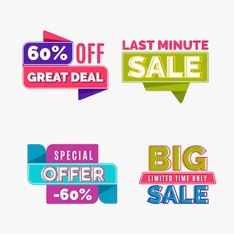 Cheap colección de banners de ventas de compras