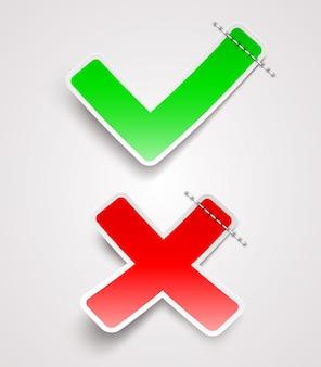Check mark paper signs - ilustración
