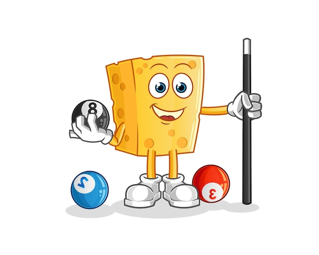 Cheese juega mascota de carácter de billar
