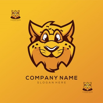 Cheetah logo design vector premium