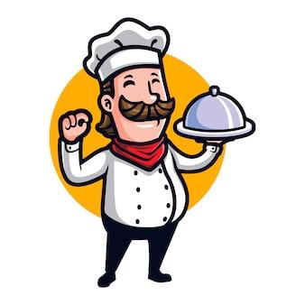 Chef y cocinero de dibujos animados