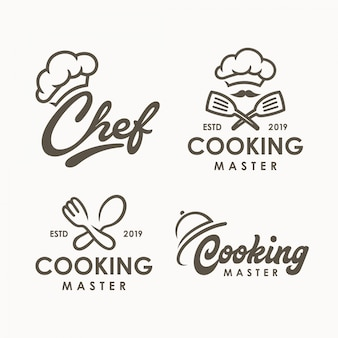 Chef cooking logo template