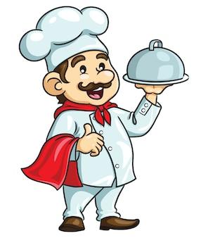 Chef hombre de dibujos animados