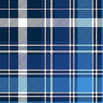 Cheque abstracto azul textil de patrones sin fisuras