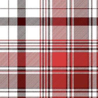Cheque abstracto rojo textil de patrones sin fisuras