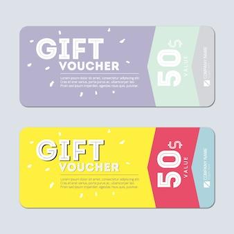 Cheque regalo con diseño moderno