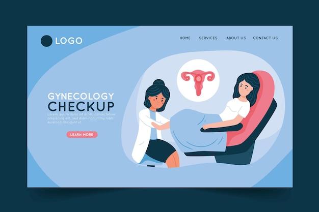 Chequeo de ginecología - página de inicio