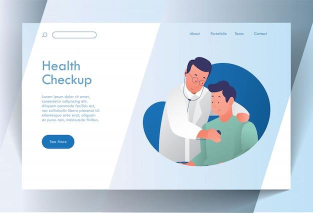 Chequeo de salud página de inicio premium