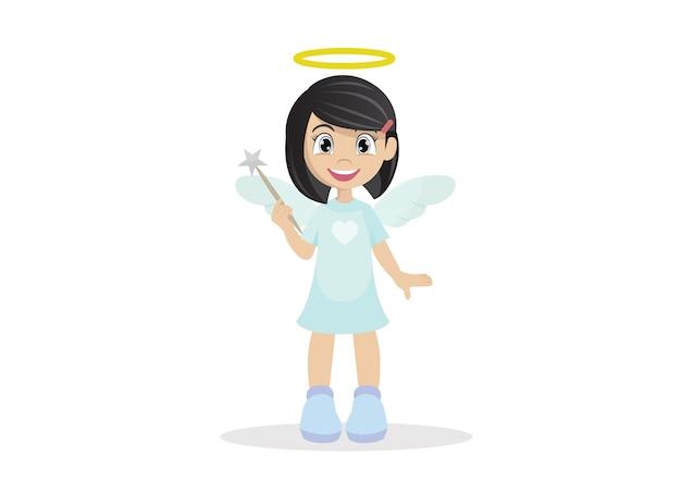Chica angel.