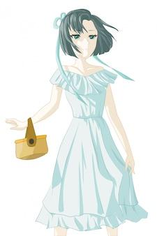 Chica anime personaje japonés