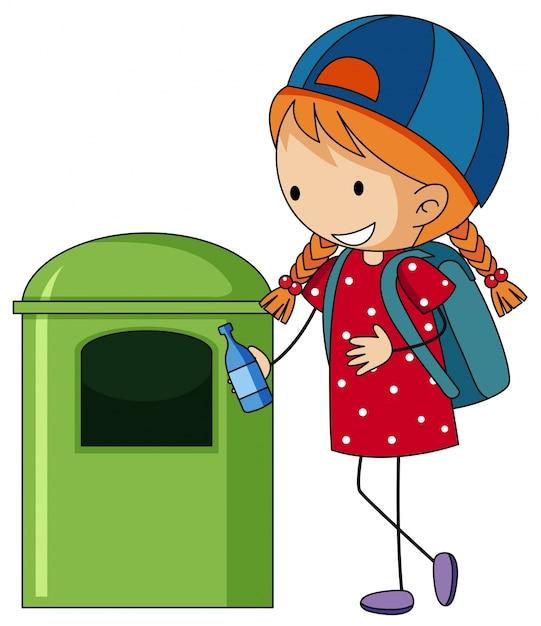 Votar la basura al tacho