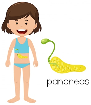 Chica con colocación de páncreas