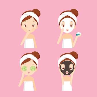 Chica cuida y protege su rostro con diversas acciones