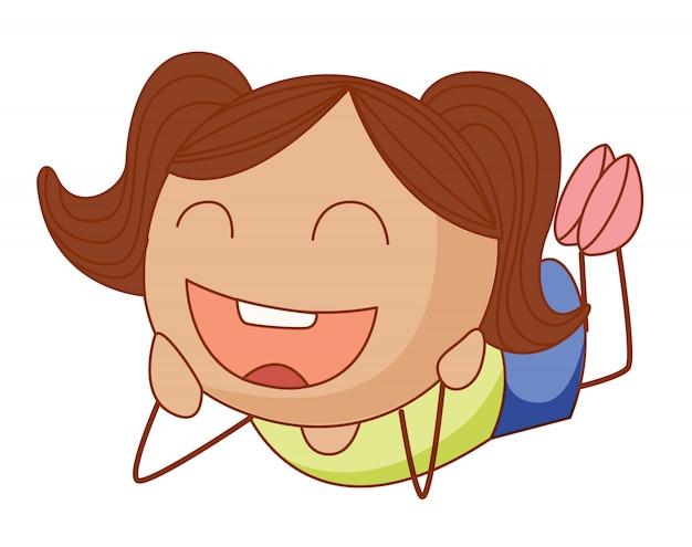Chica de dibujos animados