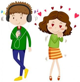 Chica enamorada de chico