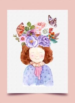 Chica con floral