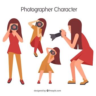 Chica fotógrafa geométrica