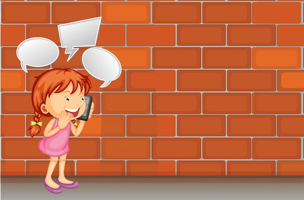 Chica hablar por telefono