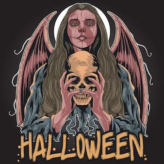 Chica de halloween loco