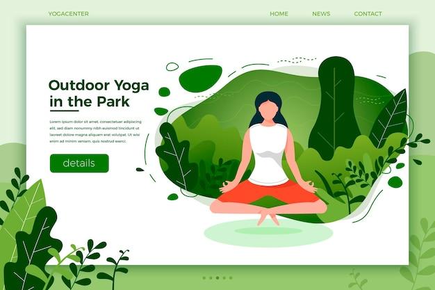 Chica de ilustración en pose de loto de yoga