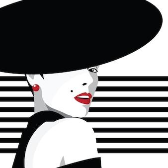 Chica de moda en estilo pop art