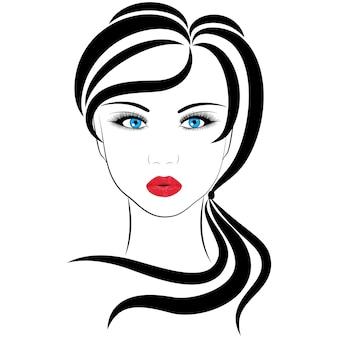 Chica de moda, ilustraciones de vectores sobre un fondo blanco.