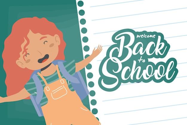 Chica de regreso al personaje de la escuela.