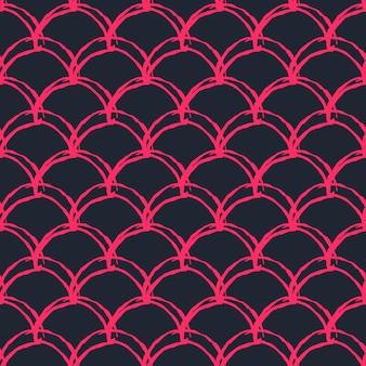Chica sirena de patrones sin fisuras. telón de fondo de piel de pez rosa. fondo cultivable para tela de niña, diseño textil, papel de regalo, traje de baño o papel tapiz. textura de niña sirena con escamas de pescado bajo el agua.