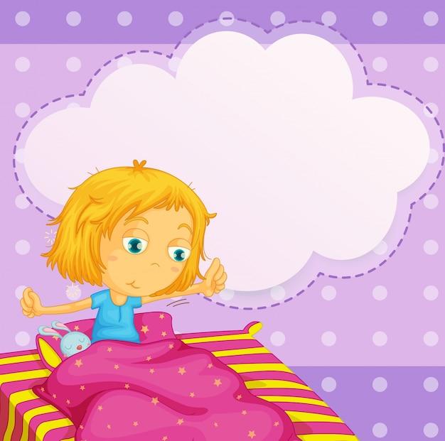 Chica soñando