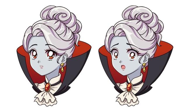 Chicas lindas de anime vampiro