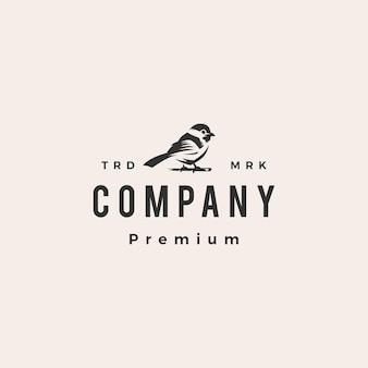 Chickadee hipster vintage logo